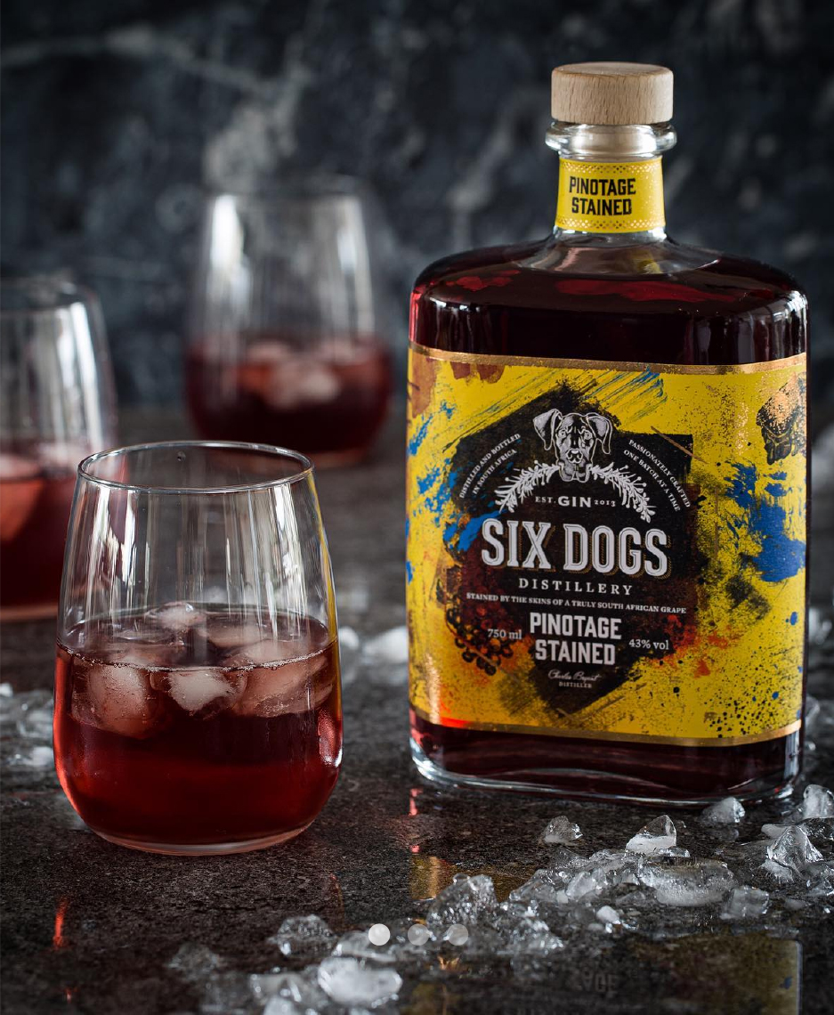 Six Dogs Gin - Six Dogs Pinotage Stained Gin
